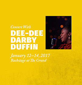 Backstage with Dee Dee Darby-Duffin